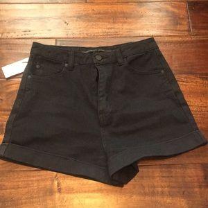 High waisted black volcom shorts